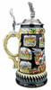 Limited Edition Bavaria Beer Stein with Pewter Lid