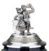 Limited Edition 3D Pewter Lid with Bavarian Couple Dancing