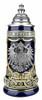German Eagle Crests Beer Stein Blue
