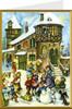 Village Snowman German Christmas Card