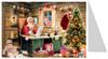 Santas List German Advent Calendar Christmas Card