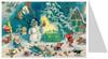 Snowman in the Forest German Advent Calendar Christmas Card