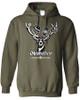 Hofbrauhaus HB Oktoberfest Deer Hooded Green Sweatshirt