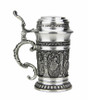1.5 oz Solid Pewter Stein with Lid and Thumblift