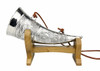 Marksman Hunter Pewter Drinking Horn with Wooden Stand