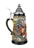 Limited Edition .25 Liter Hand Painted German Stein with Pewter Lid
