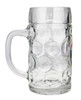 German Eagle & Crests Oktoberfest Glass Beer Mug with .5 Liter Markings