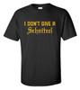 I Don't Give A Schnitzel | Black T Shirt