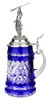 Lord of Crystal Blue German Beer Stein | 3D Poseidon Lid