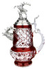 Lord of Crystal Stag German Beer Stein Red | 3D Stag Lid