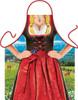 Bavarian Red Dirndl Female Beer Apron
