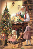 Woodworking Santa and Children German Christmas Advent Calendar