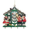 3D Bavarian Oompah Band Maypole German Pewter Christmas Ornament
