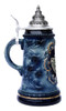 Silent Night Chapel Christmas Beer Stein with Pewter Badge
