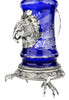 Lord of Crystal Eagle German Beer Stein Blue | 3D Eagle Lid | Talon Feet