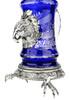 Lord of Crystal Eagle German Beer Stein Blue | 3D Eagle Lid | Talon Feet