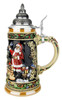Santas Train German Christmas Beer Stein
