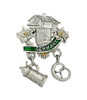 Bavaria Germany Chalet German Hat Pin with Stein and Pretzel