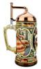 King Gambrinus Brewers Prosit Beer Stein | Copper Kettle Lid