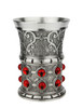 Pewter Rubin Swarovski Chalice Cup