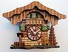 German Chalet with Deer Mini Mantle Clock   Musical