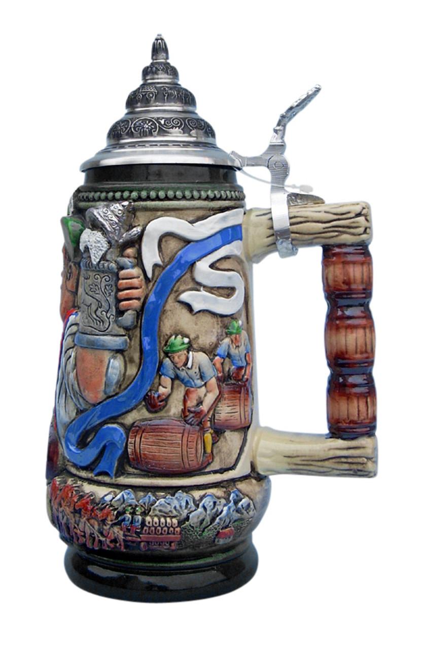 Alpine Oktoberfest Beer Stein Barrel Rolling