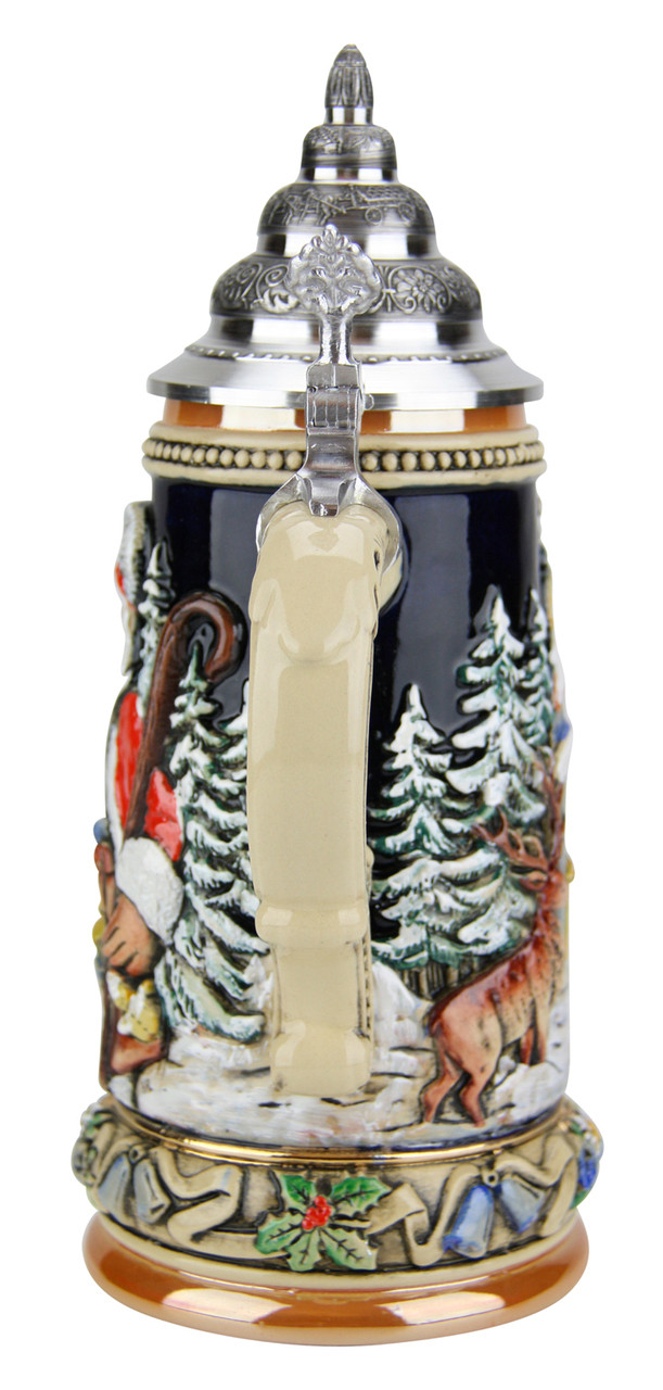 Christmas Santa Beer Stein with Lid for Sale