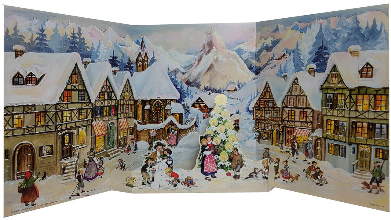 Alpine Village 1952 Reproduction German Advent Calendar