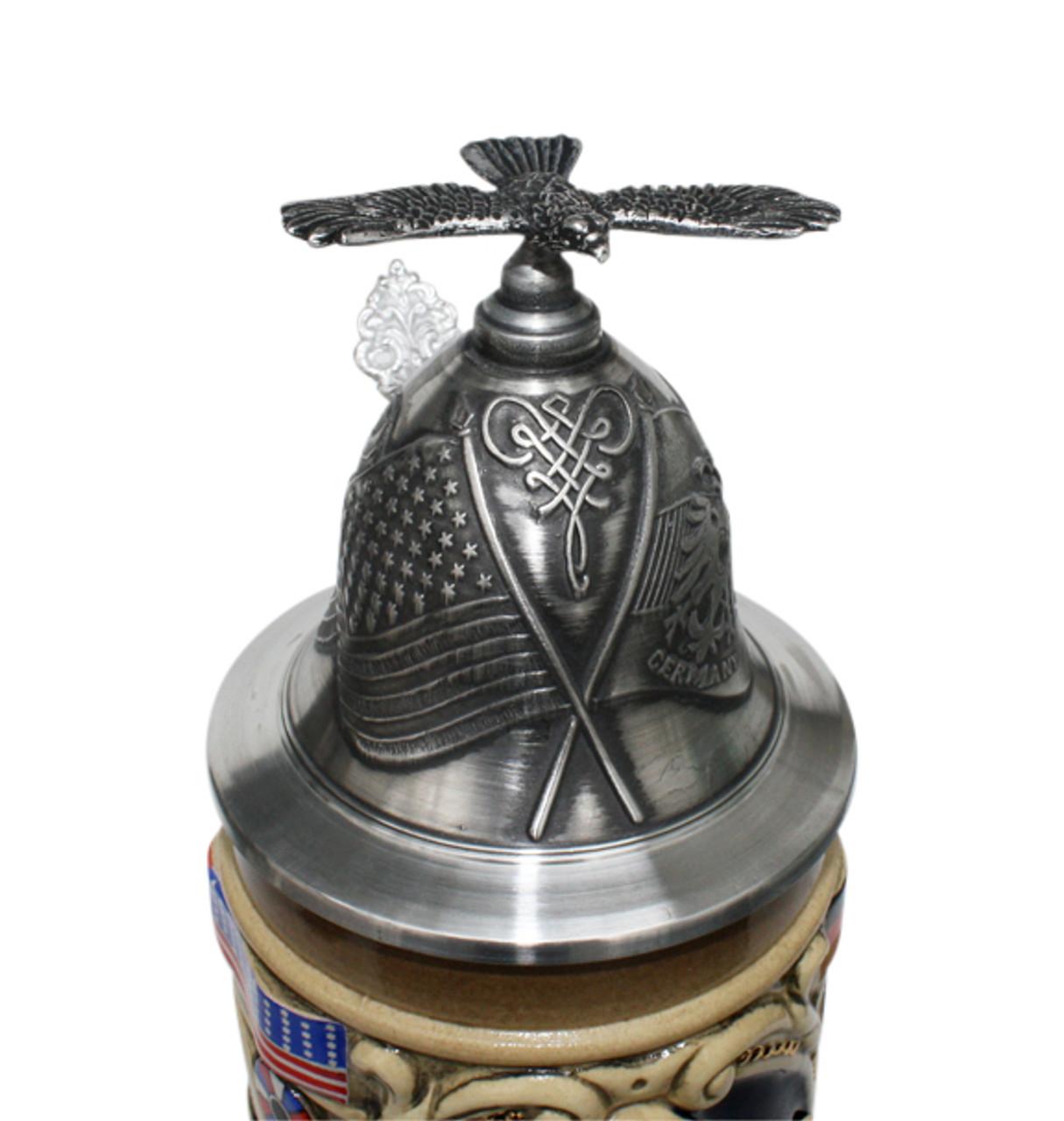 Baron Friedrich Von Steuben Beer Stein Eagle Lid