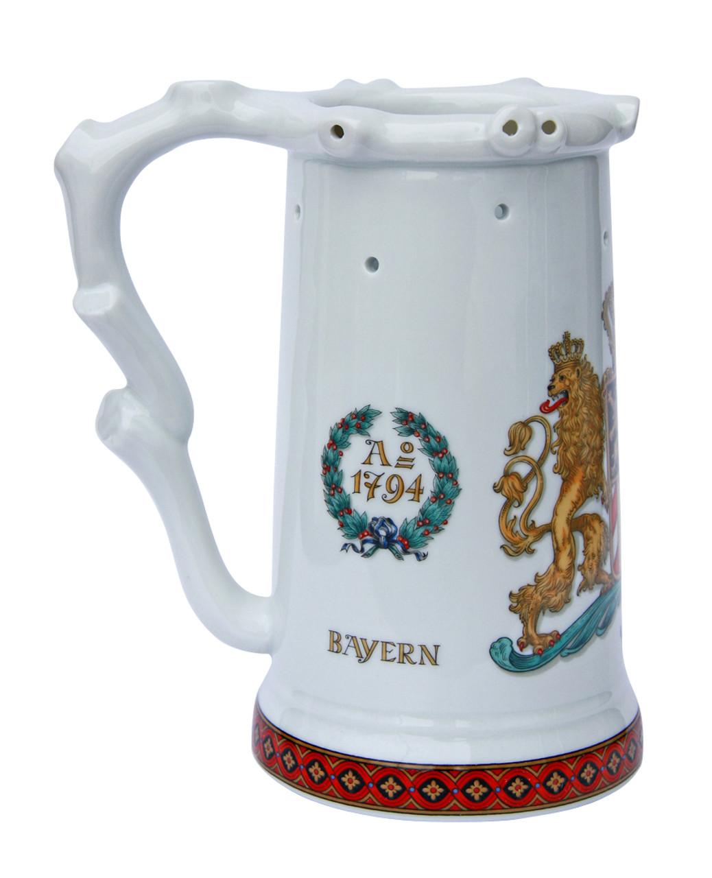 Bavaria Crest Porcelain Puzzle Beer Stein - GermanSteins.com