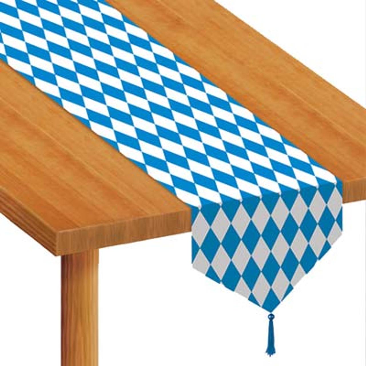Bavarian Flag Pattern Table Runner