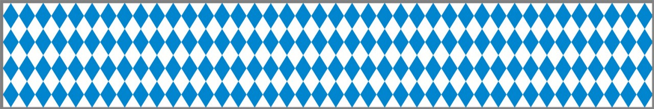 Bavarian Flag Poly Streamer