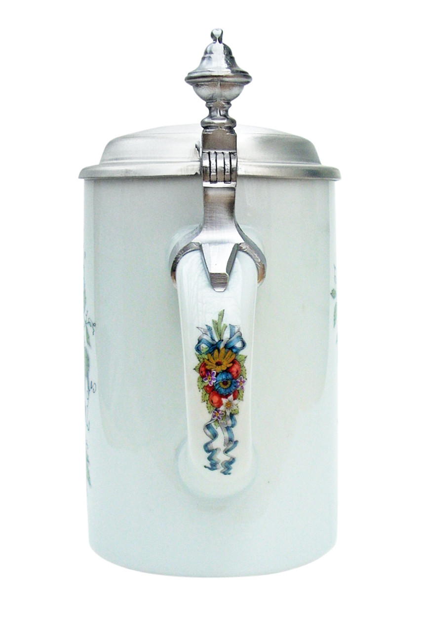 Beer Maiden Porcelain Beer Stein