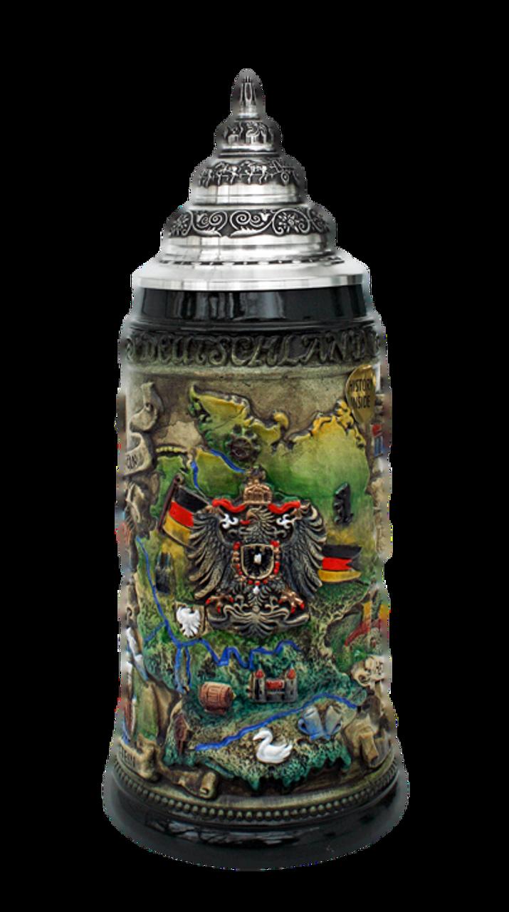 Deutschland Map Beer Stein