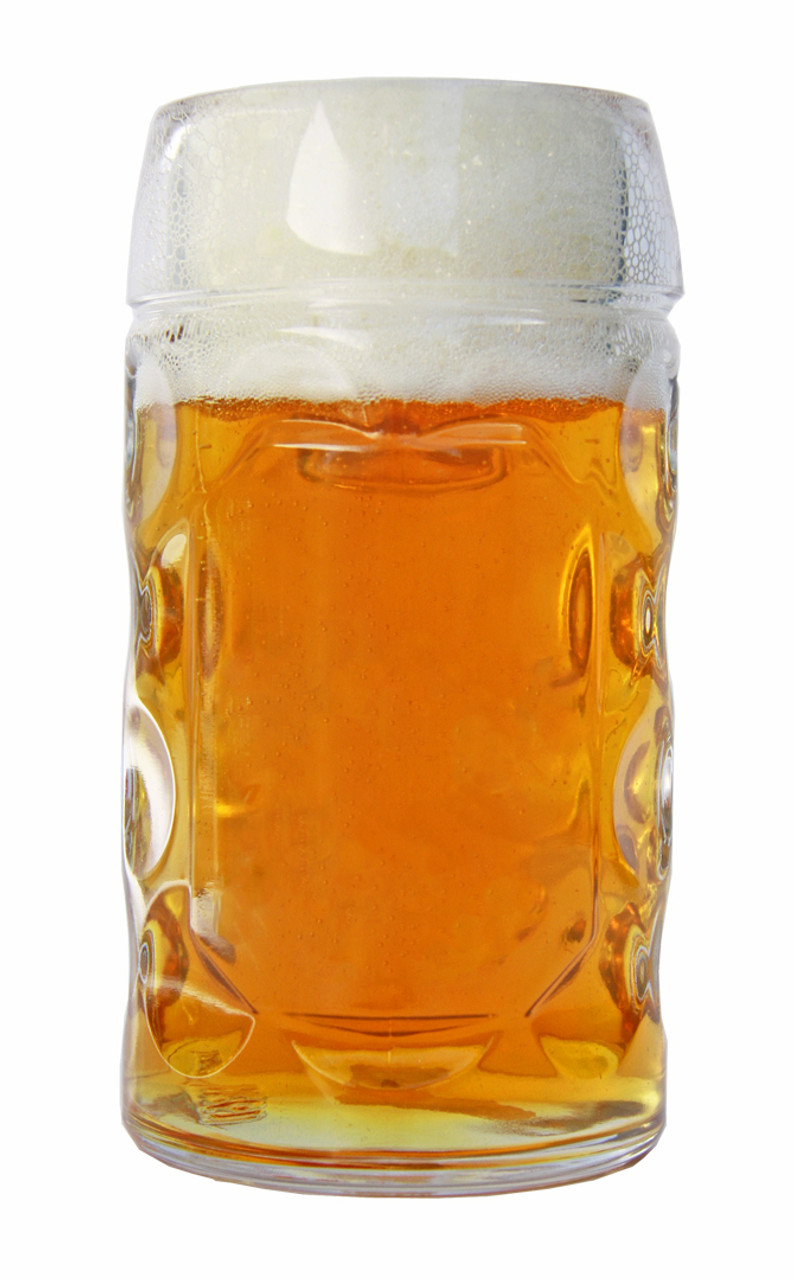 Half Liter Glass German Beer Mug