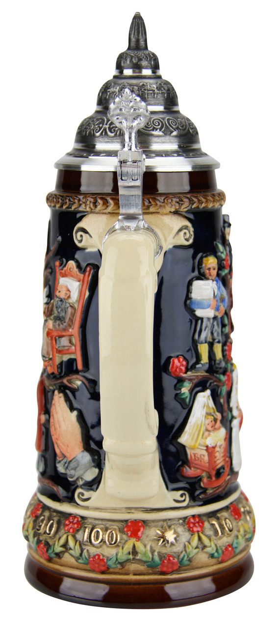 Beer Stein Depicting the Stages of Life
