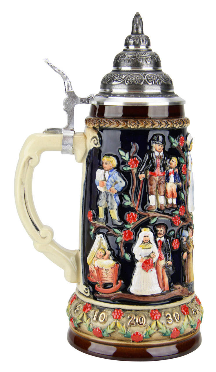 Collectible Beer Stein with Pewter Lid for Weddings