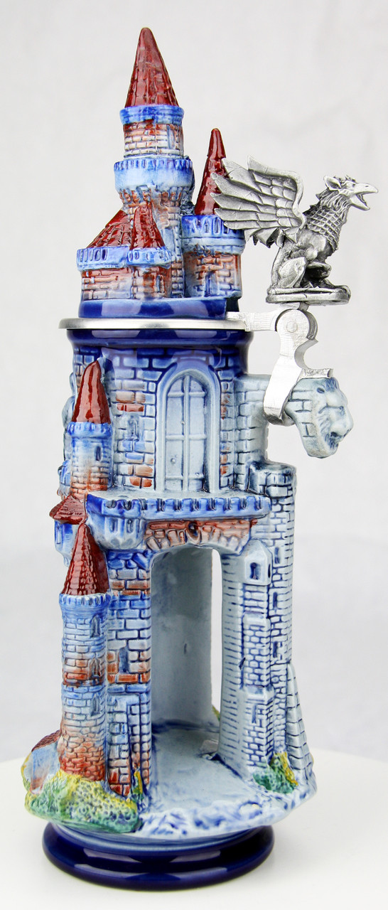 Fantasy Castle 3D Beer Stein with Griffin Thumblift
