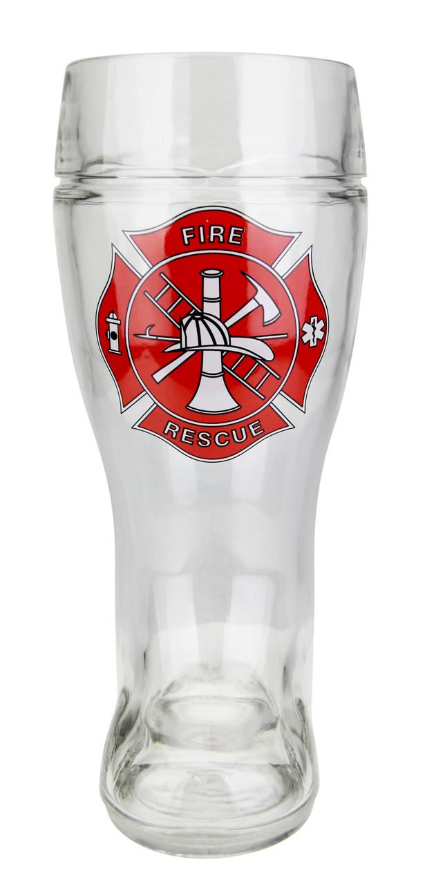Firefighter Glass Beer Boot 1 Liter