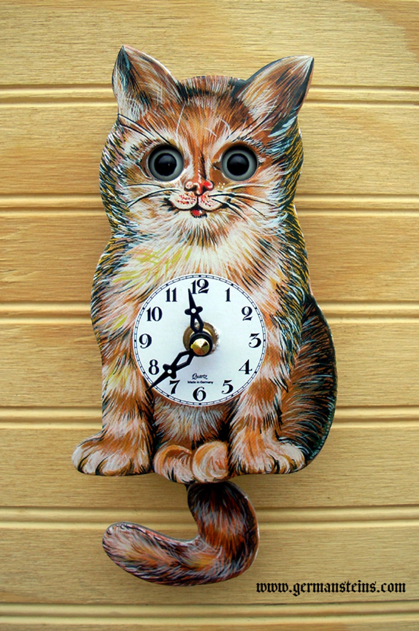 German Cat Mini Clock