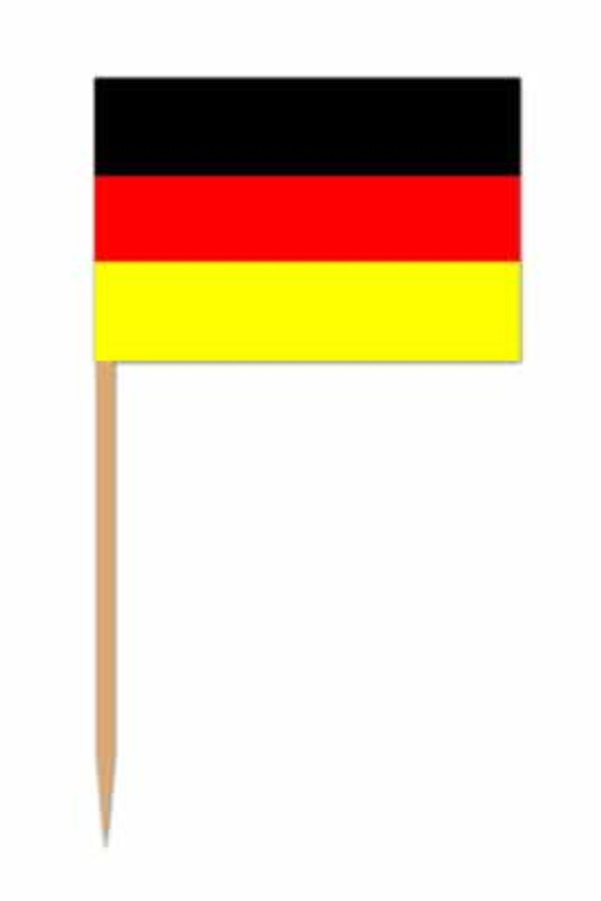 German Flag Accent Toothpick 50pk