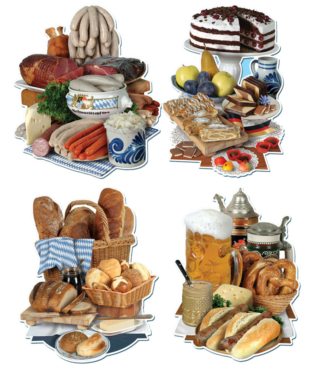 German Food Cutout 4pk