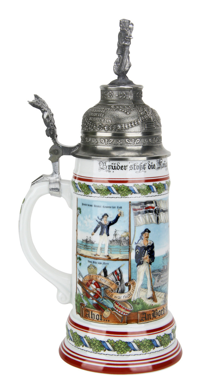 German Navy Regimental Beer Stein