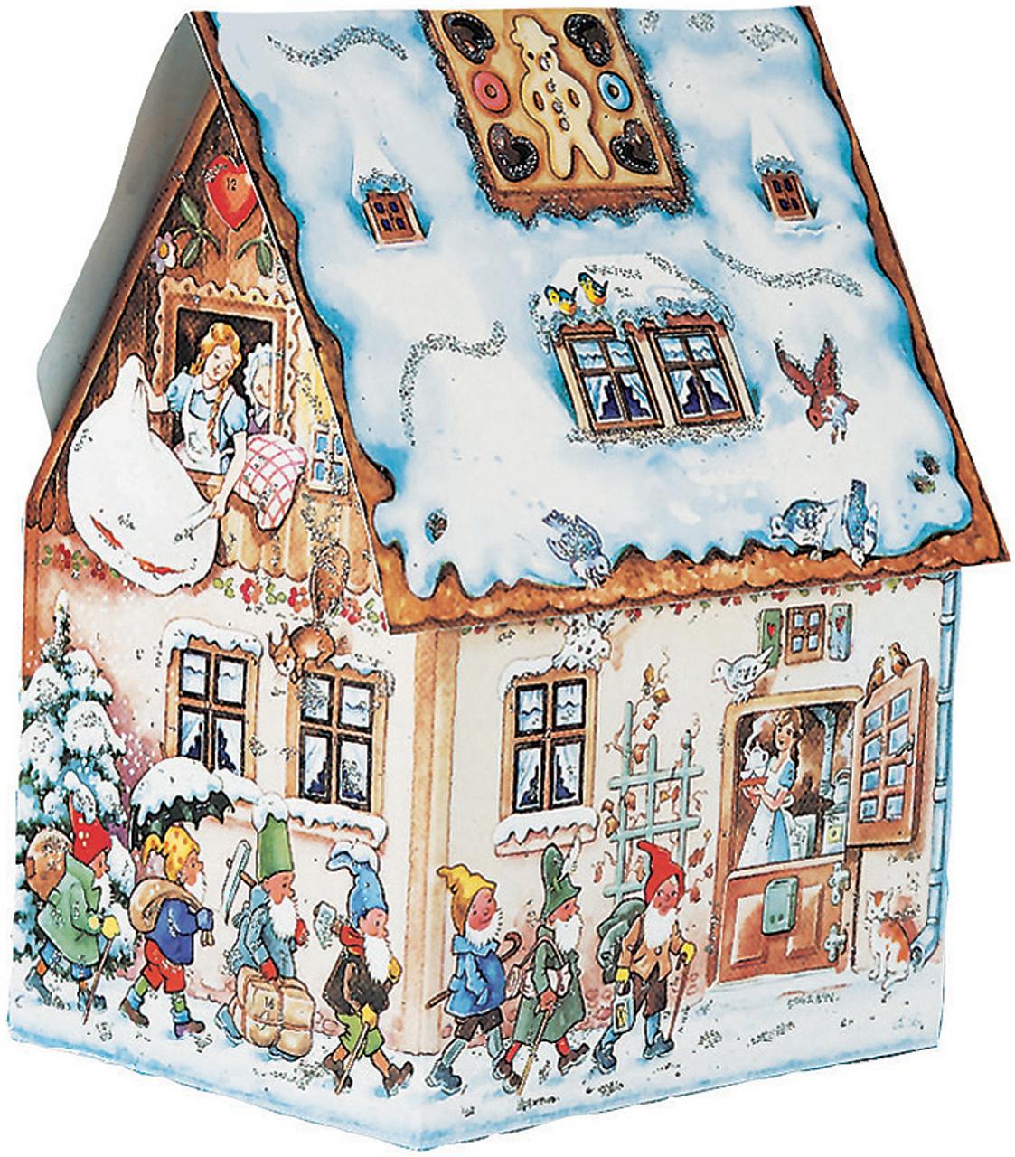 Gingerbread House Shaped 3D German Advent Calendar