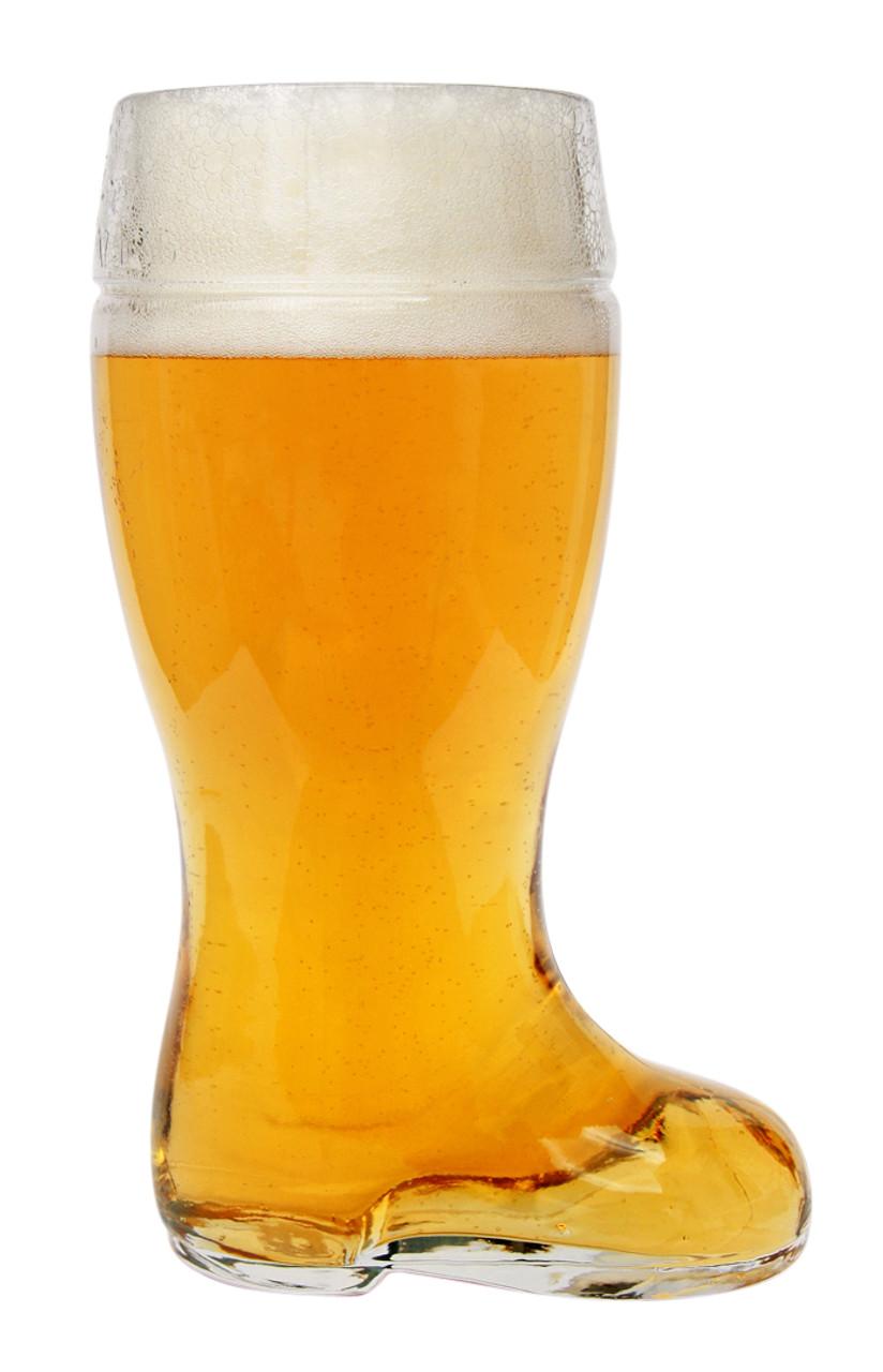 Glass Beer Boot Mug 1 Liter