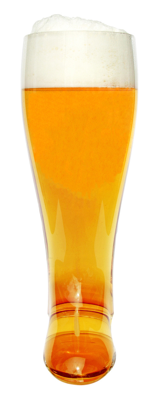Two Liter Imported Glass German Beer Boot Mug