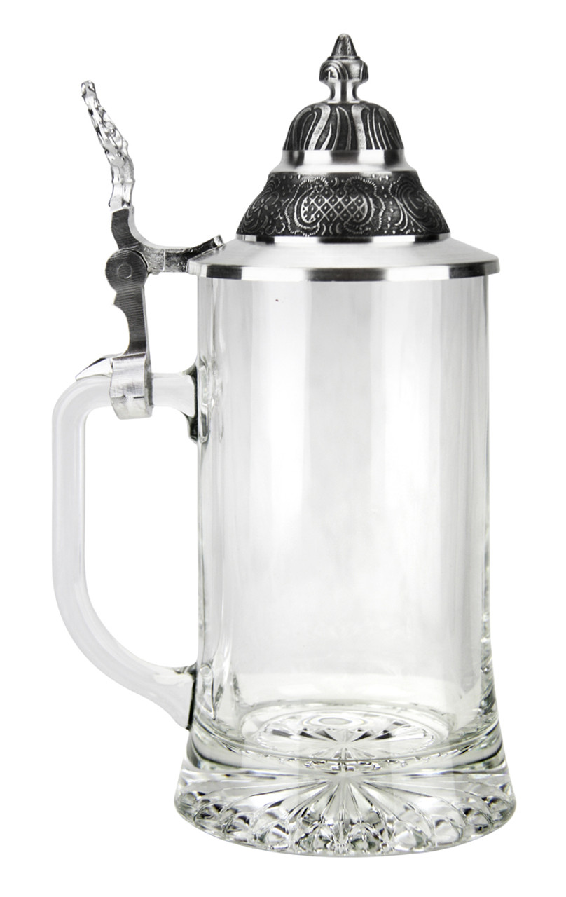 0.4L Beer Stein, Made in Germany, Left View of Empty Glass