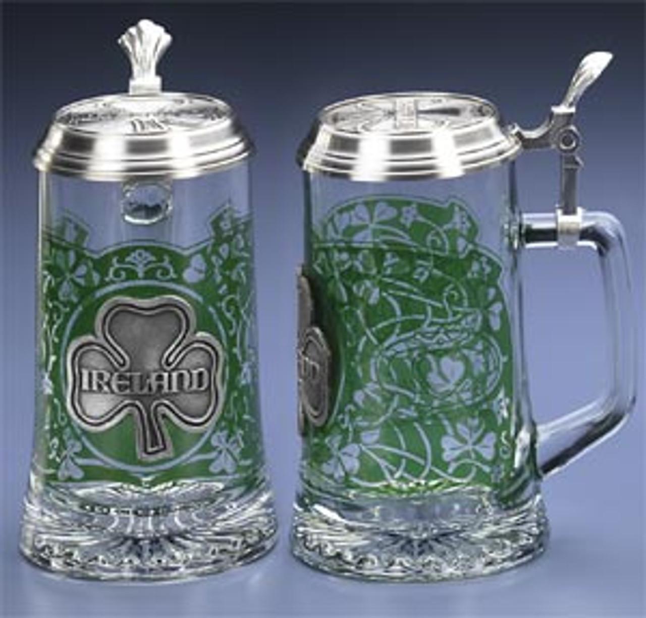 Glass Ireland Beer Stein