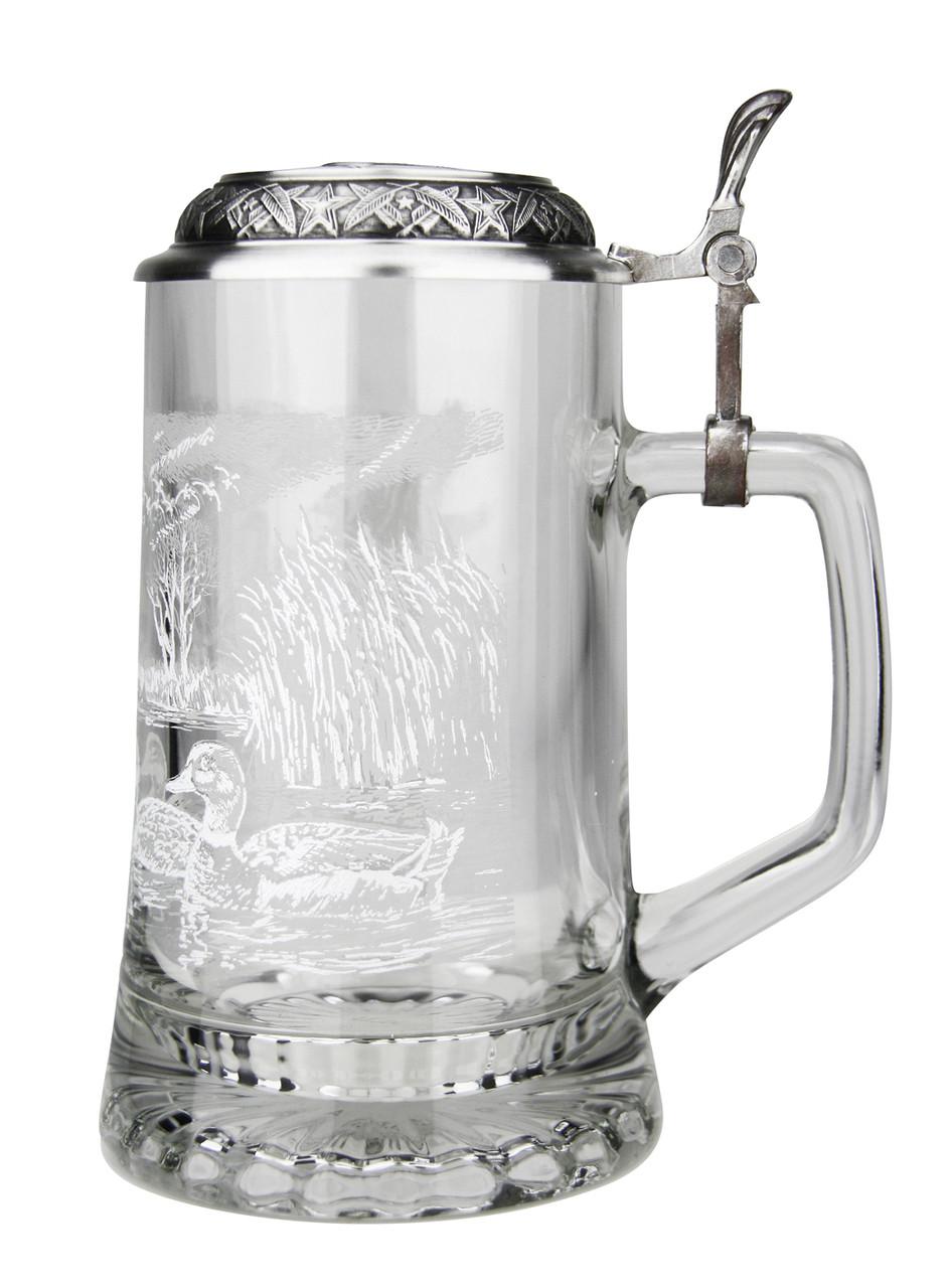 Mallard Glass Beer Stein