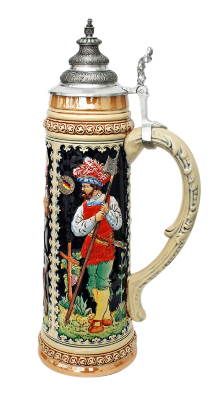 King Limitaet 2004 | Goddess of Hunters Handpainted Beer Stein